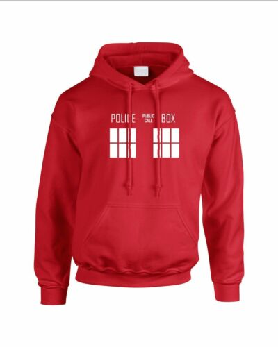 Police Box Dr Who Hooded Sweatshirt Hoodie Dalek Tardis BBC Doctor