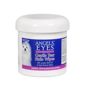Angels-039-Eyes-Gentle-Tear-Stain-Wipes-100-ct-With-Juniper-Berry-Oil-For-Dogs