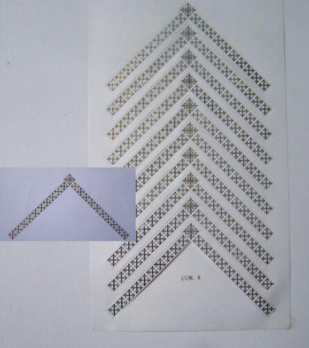 doré planche stickers autocollants CHAINETTES Modèle 2