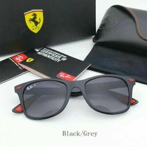 Ray-Ban-RB4195MF-F602-H2-Scuderia-Ferrari-Black-Sunglasses-Grey-Gradient-Lens