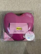 Pink Heart Post It Brand Pop Up Note Dispenser With 50 Pink 33 Notes