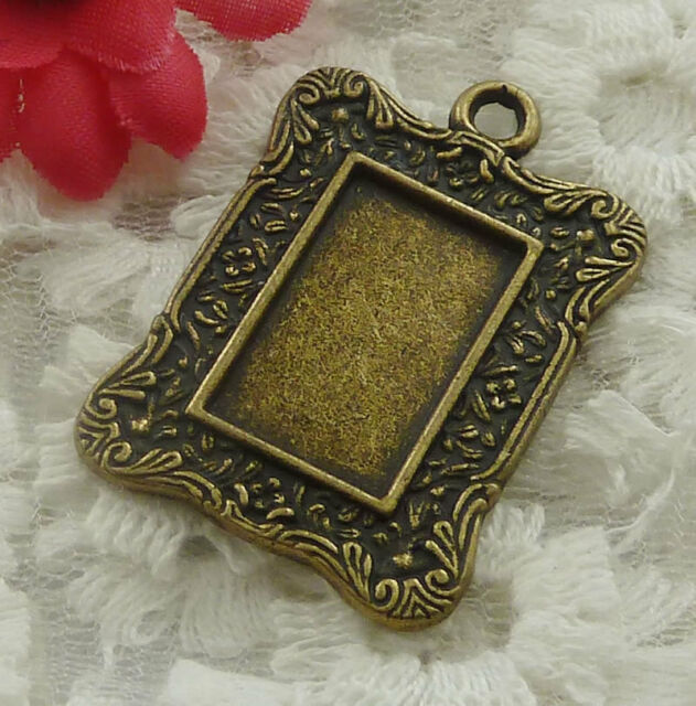 free ship 15 pieces bronze plated frame pendant 36x25mm #2224