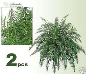 Two 36 River Fern Hanging Artificial Silk Plants 200 Ebay