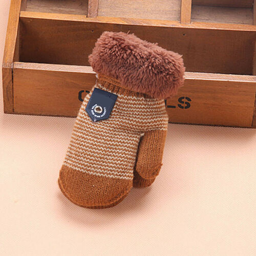 Baby Girls Boys Winter Warm Cute Knit Mittens Thicken Hot Gloves Toddler Infant