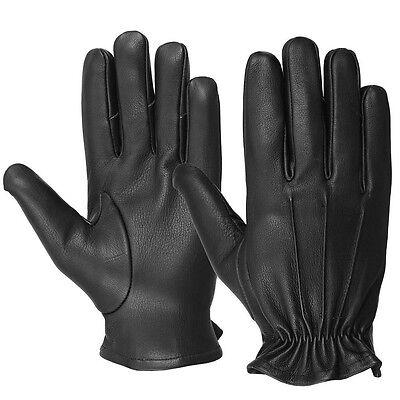 Men/'s Deerskin Water Resistant Leather Soft Full Finger Motorcycle Gloves