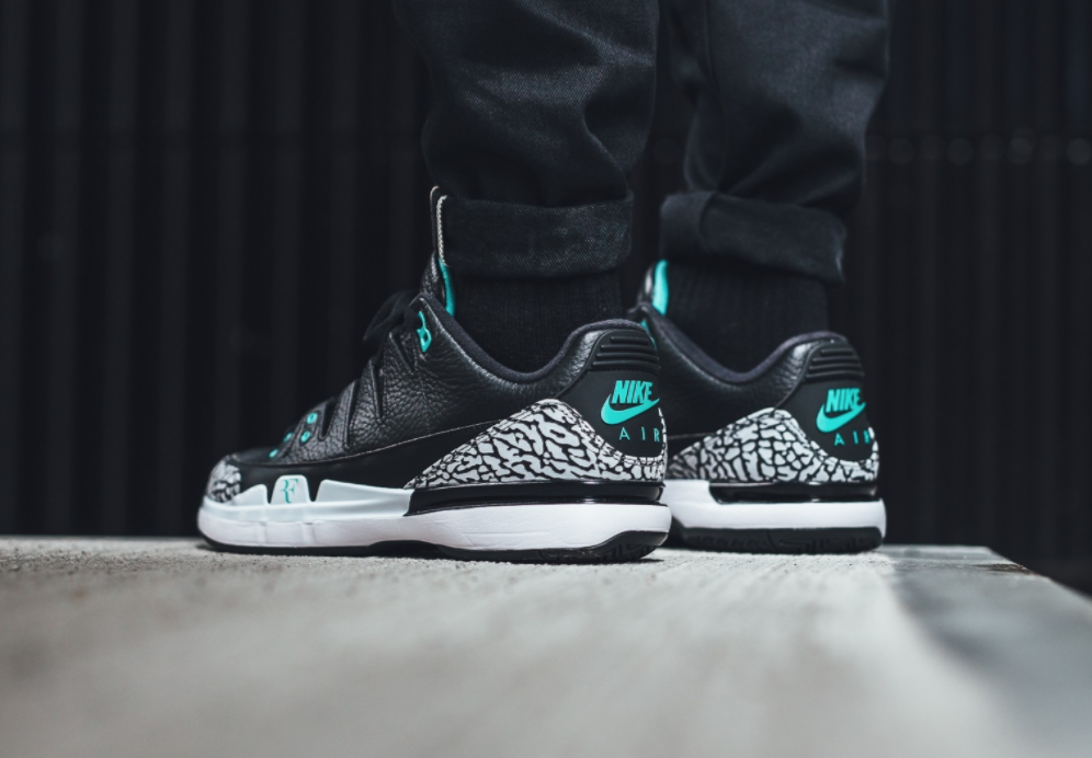 Nike Air Jordan Zoom Vapor RF AJ3 Black CEMENT 3 Clear Jade CEMENT Black White Max 1 Atmos 9 ac593d