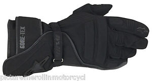 ALPINESTARS-WR-V-GORE-TEX-GTX-BLACK-LEATHER-TEXTILE-WATERPROOF-MOTORCYCLE-GLOVES