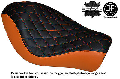 TWOTONE DIAMOND DRK RED CUSTOM FOR HARLEY SPORTSTER LOW IRON 883 SOLO SEAT COVER