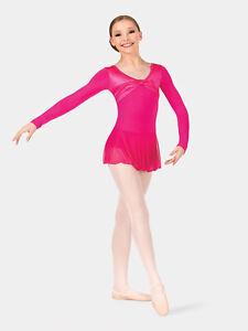 NEW Dance Leotard Size MC Pink Dress Skirt Jazz Skating Costume Child M