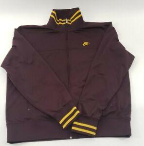 Mens-Burgendy-Nike-Full-Zip-Up-Sweater-Size-Large