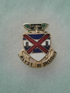 Authentic-US-Army-13th-Infantry-Regiment-Unit-DI-DUI-Crest-Insignia-GEMSCO-NY