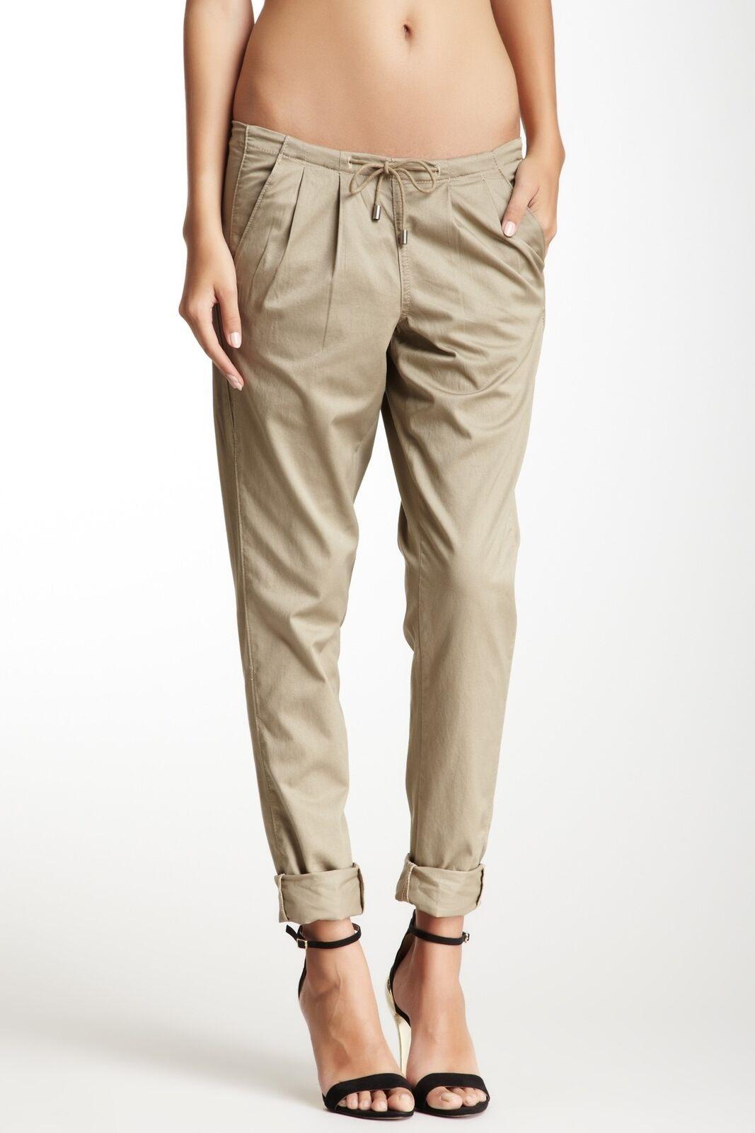 BLANK NYC 148351 Women's Blank Denim Drawstring Pant color Khaki Sz 30