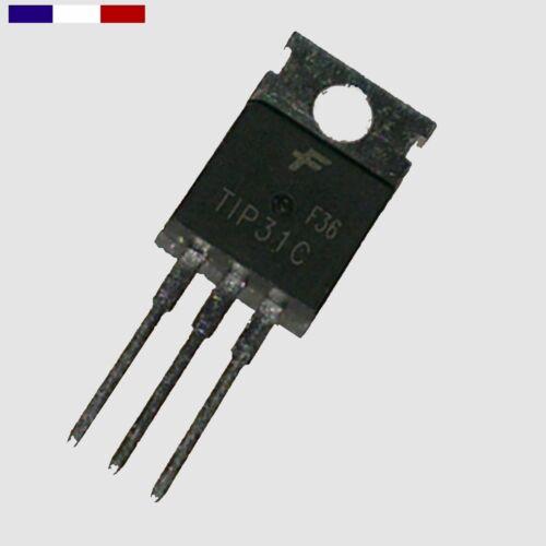 3 1 Transistor TIP 31C 2 NPN  100V 3A 40W TO220 ou 5 pièces