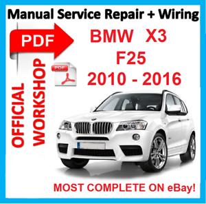 official workshop manual service repair for bmw x3 f25 2010 2016 rh ebay com 2004 bmw x3 repair manual pdf bmw x3 workshop manual