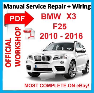 Automobilia # OFFICIAL WORKSHOP MANUAL service repair FOR BMW X3 ...