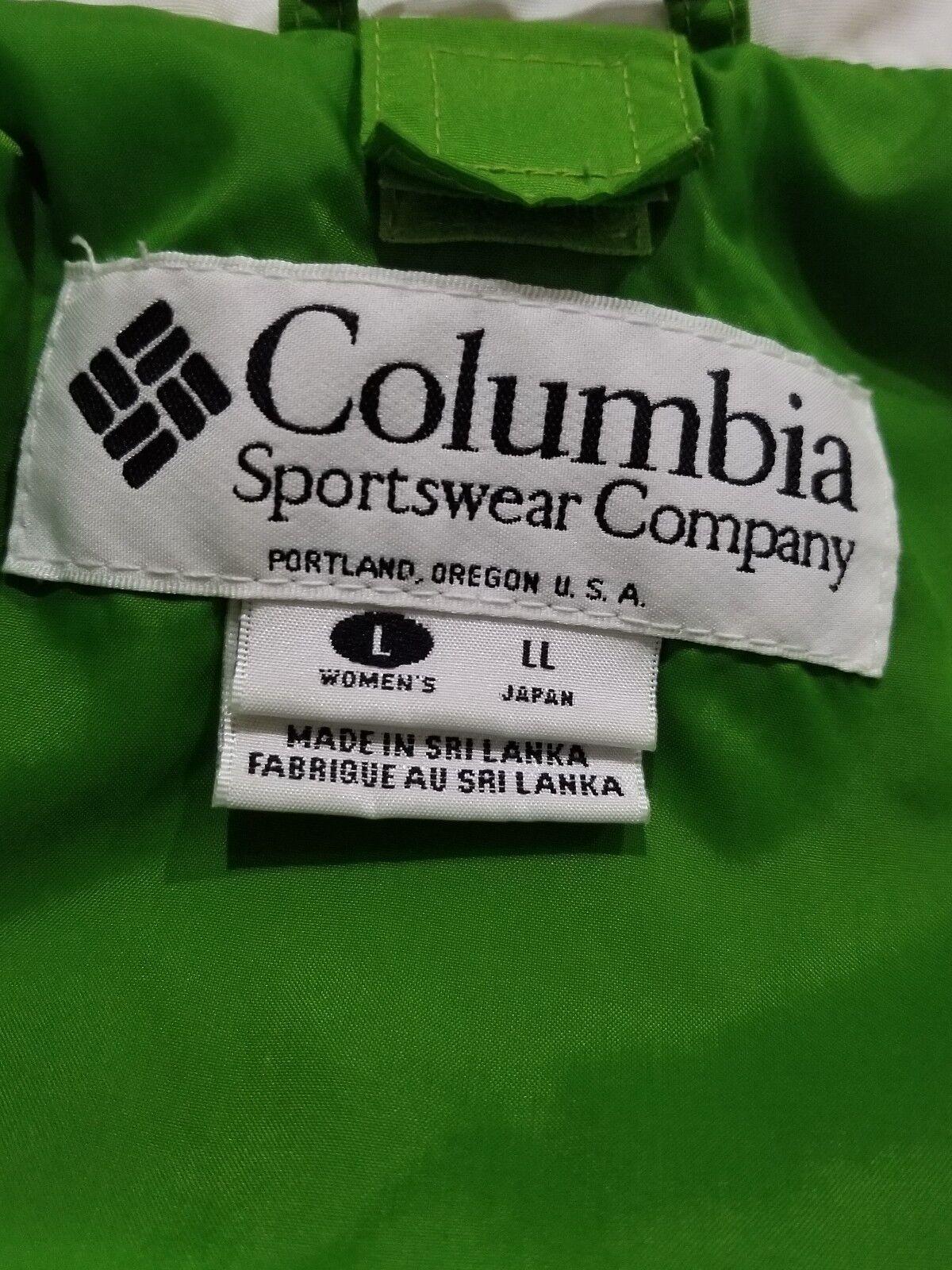 Columbia Winter Coat Coat Coat Women's Large Bugaboo Tech Series Gr Bl Wh d7b0cb
