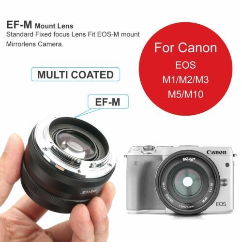 Meike 35mm F1.4 Large Aperture Manual Focus Lens APS-C For Canon EOS-M M6 M4 M3