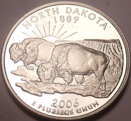 Cameo Proof 2006-S North Dakota State Quarter~Free Shipping