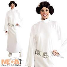 Deluxe Princess Leia + Parrucca Costume Star Wars Signore costume adulto vestito NUOVO