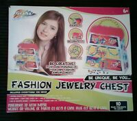 Girls Grafix Fashion Design Your Own Wooden Jewelry Chest Kit
