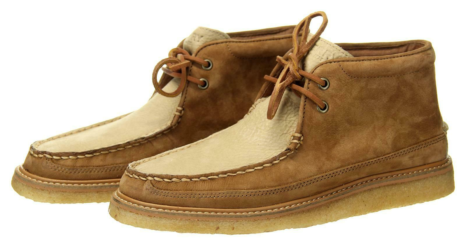 Sperry x J Crew Men's Crepe Soled Leather Chukka Boots Tan Stone 10.5M J8274