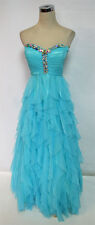 MASQUERADE Aqua Formal Prom Party Gown 7 - $170 NWT