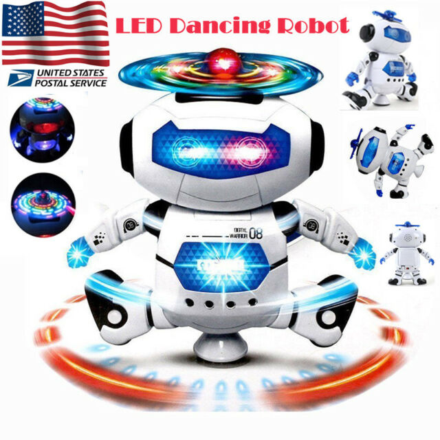 toys for kids walking dancing toddler robot led light cool christmas xmas gift - Cool Christmas Toys