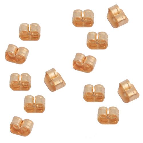 1000pcs 160878 New Wholesale Golden Iron Earring Back Stopper Findings 6x4x3mm