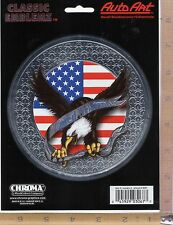 """""""UNITED WE STAND"""" Eagle USA Flag Decal Window Sticker Auto Truck Stick-On 3067"""