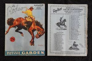 1943-18th-Annuale-Rodeo-Programma-Roy-Rogers-amp-Trigger-Canta-Cowboy-con-Inserire