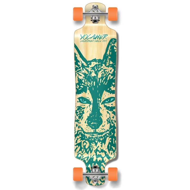 Yocaher Lowrider Longboard Complete -  Spirit Animal WOLF  presenting all the latest high street fashion
