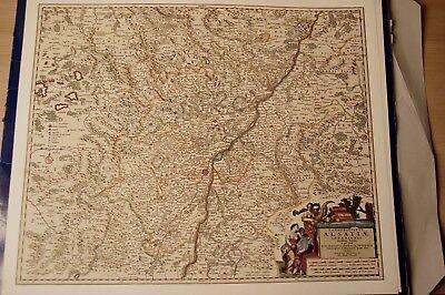 Historische Landkarte Alsatiae Elsass Straßburg Hagenau Zabern Pfalzburg 1658 In Vielen Stilen