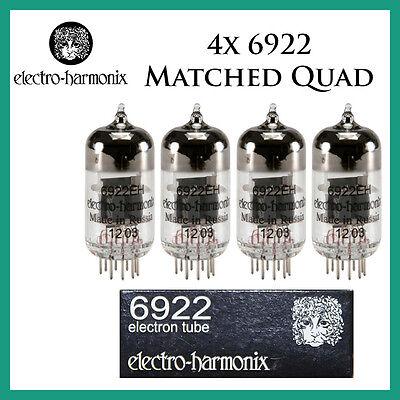 New 4x Electro Harmonix 6922 / E88CC / 6DJ8 | Matched Quad / Quartet / Four | EH