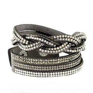 Bracelet-manchette-cuir-et-petit-strass-gris-blanc-et-noir-bijou-fantaisie
