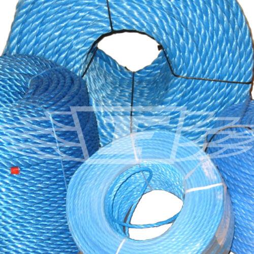 Polyrope en Polypropylène Bleu Poly Corde Bobines 6 12 18 8 10 16 14 20 mm NEUF