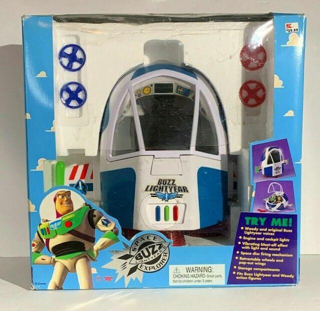 Vtg 90s Toy Story Buzz Lightyear Space Explorer Light Sound Spaceship Disney Toy