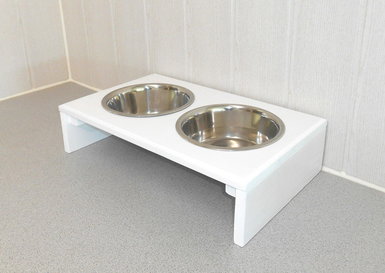 Hundenapf   Hundebar   Futternapf   Napf, Napfbar, weiß. gr. Näpfe  10cm (14e)  | Elegant und feierlich