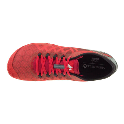 Merrel Vapour Glove 3 Mens Red Trail Running Sports Shoes Trainers Pumps