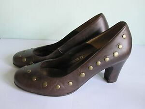Dolcis-Ladies-Brown-Leather-Shoes-with-STUD-DETAIL-UK-6-EU-39