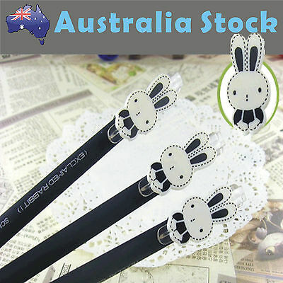 2 X Super Cute Rabbit Bunny Gel-ink Pens Stationery Kids Student Back to School