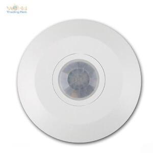 Decken-Bewegungsmelder-CBM-Flat-360-230V-1-2000W-6m-LED-weis-Melder-PIR-Sensor