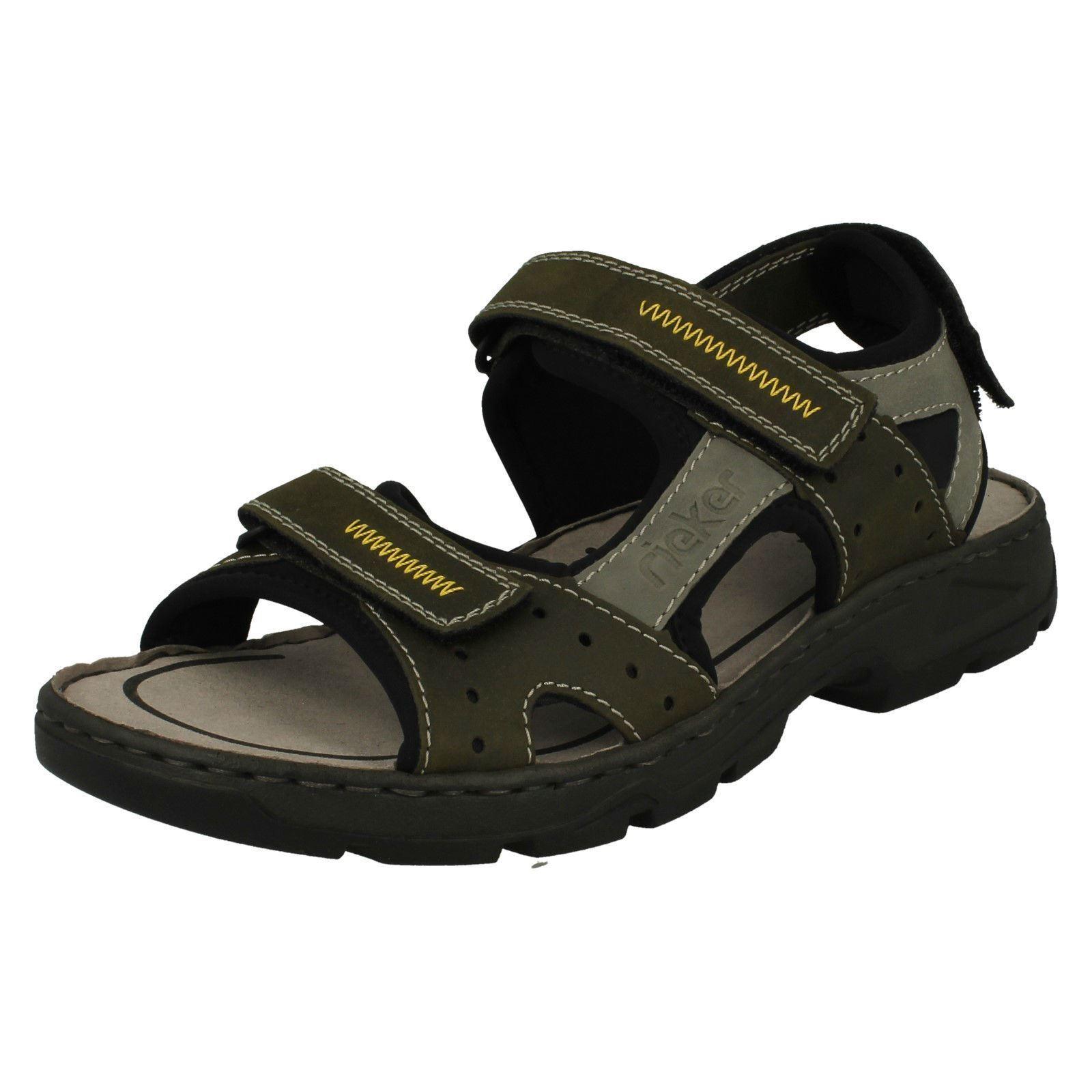Uomo Rieker 26157 Strap Green Combination Casual Strap 26157 Sandales a50f01