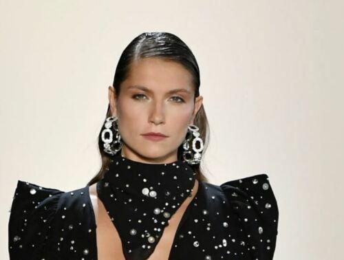 Amazing HUGE CRYSTAL Oversized HOOP Earrings Rich Sparkle Catwalk Designer 2020