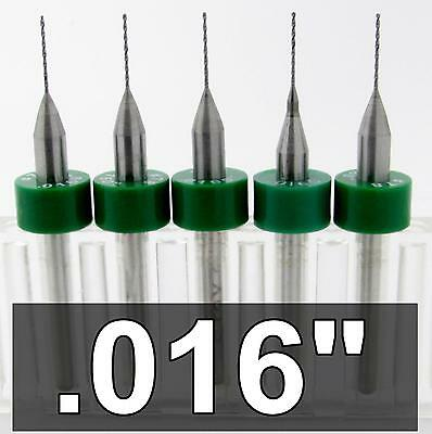 """1//8/"""" Shanks LU Five Pieces #78 .016/"""" 0.40mm Solid Carbide Drill Bits"""