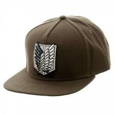 Attack on Titan Scout Canvas Snapback Logo Cap Hat Anime Licensed NEW!