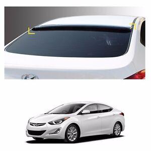 Smoke Roof Rear Visor Wing Spoiler Molding for Hyundai Elantra 2016-2018