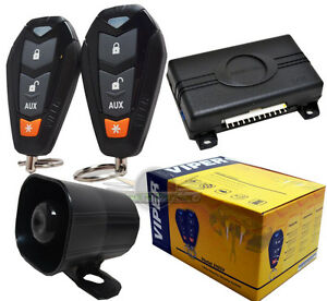 New-Viper-3105V-Security-System-With-Keyless-Entry-Car-Alarm-With-2-Remotes-3105