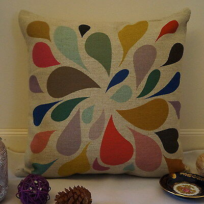 Vintage Cotton Linen Cushion Cover Home Decor Waterdrop