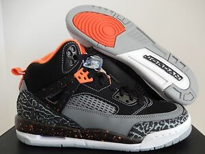 low priced 16c20 b40cf Image is loading NIKE-AIR-JORDAN-SPIZIKE-BG-BLACK-ORANGE-SZ-