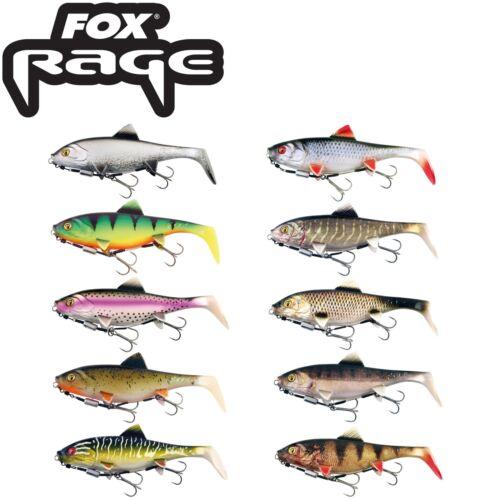 Fox Rage Replicant Shallow - Gummifisch, Spinnköder für Hecht, Hechtköder, Shad